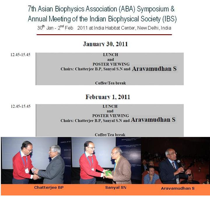 Click on Image for correspondences with Jagannathan, Convener,7th ABA